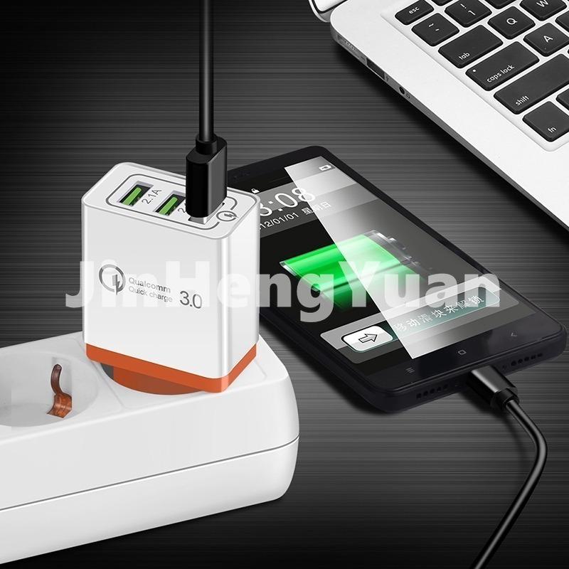 Đầu phích cắm sạc nhanh chuyển đổi USB 3 cổng 3.0 cho điện thoại Iphone mang đi du lịch