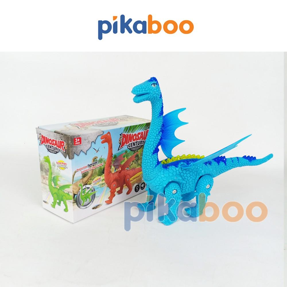 Đồ chơi Khủng long cổ dài Emplay, mô hình khủng long có cánh, phát nhạc, có đèn, chất liệu nhựa bền bóng, an toàn
