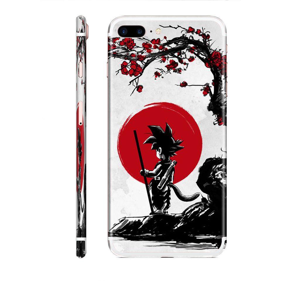 Miếng dán skin hình Songoku Dragon Ball (Mã: 7vnr032) cho iPhone ( có đủ mã máy )