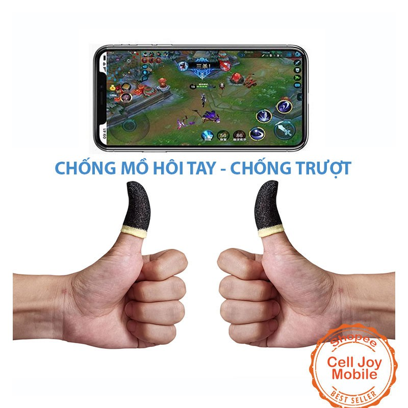 Bộ bao 2 ngón tay chuyên dụng chơi game mobile chống ra mồ hô