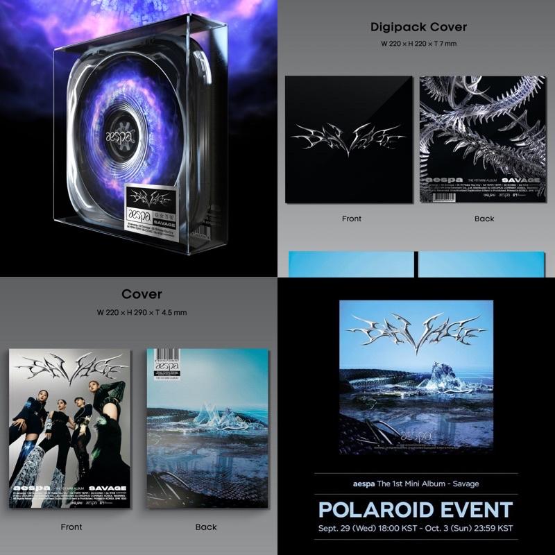 [aespa- SAVAGE album- kèm polaroid -photobook/ case/ digipack ver] hàng chính hãng, nguyên seal