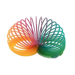 Đồ chơi lò xo cầu vồng ma thuật bằng nhựa (đường kính 7 cm)