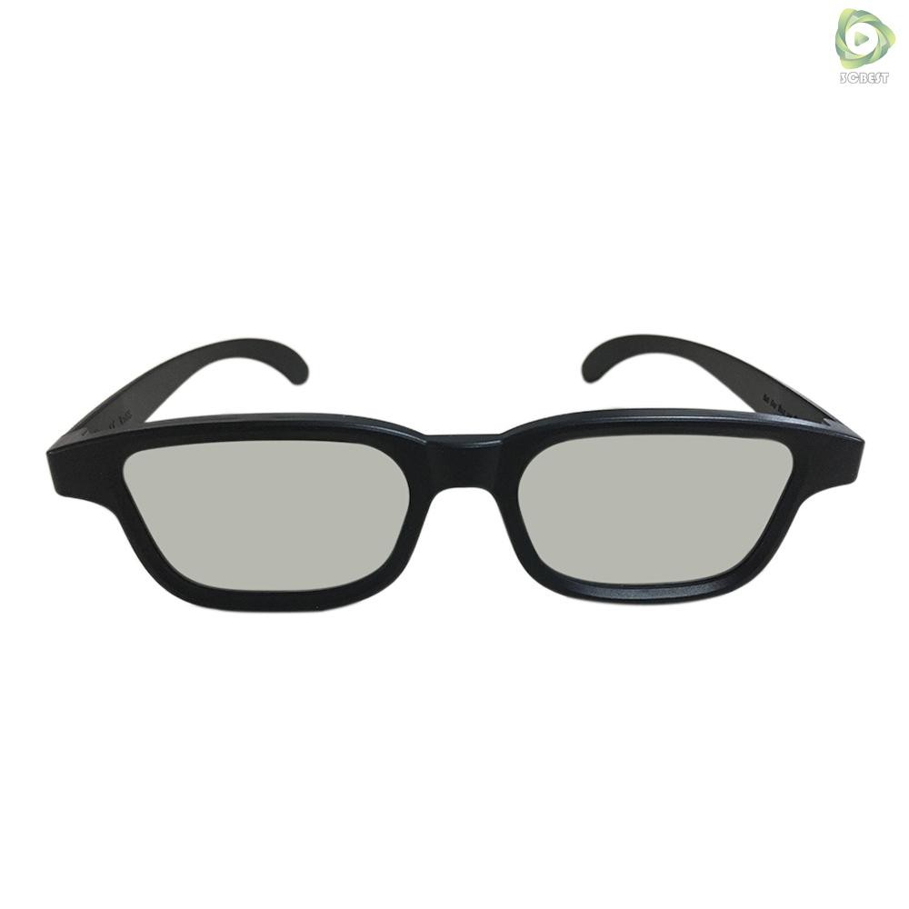 3&C G90 Passive 3D Glasses Polarized Lenses for Cinema Lightweight Portable for Watching Movies