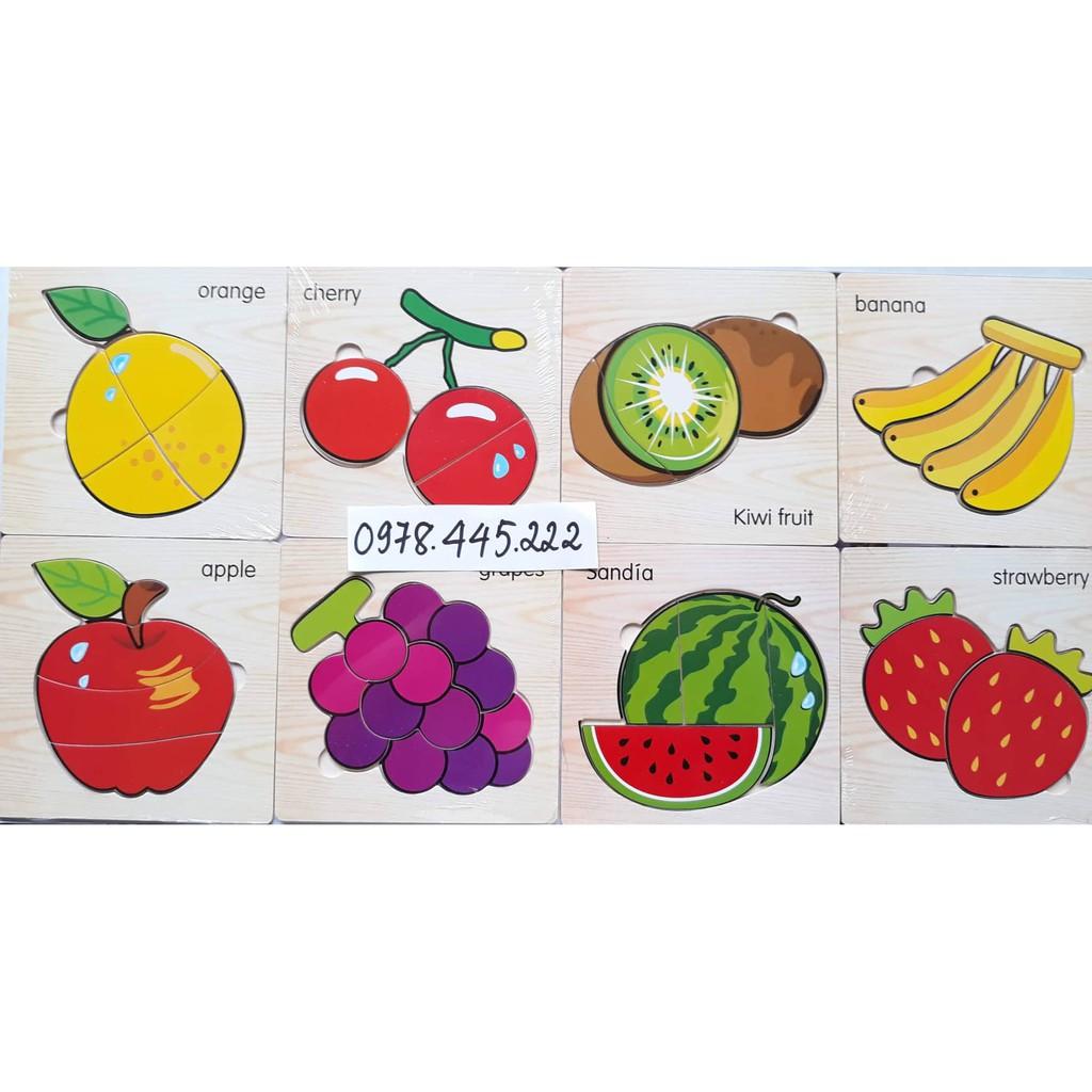 Ghép hình đơn giản – hoa quả