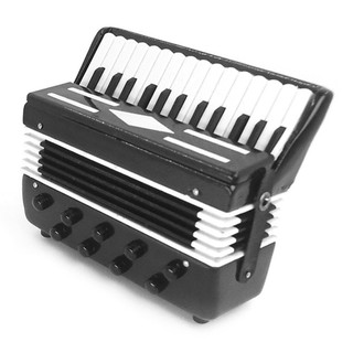 DOLLHOUSE MINIATURE Wooden Accordion Musical Instrument