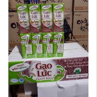 1 Thùng gạo lức huyết rồng 180ml(40 hộp) Vietngucoc