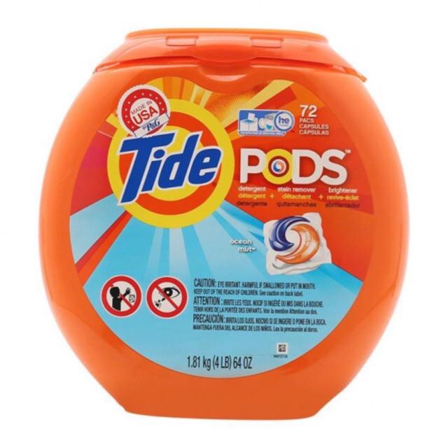 Hộp viên giặt Tide Pods
