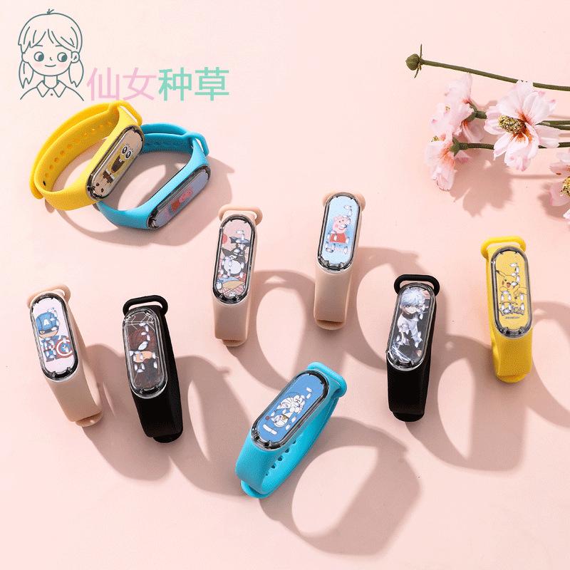 Xu hướng mới 50M Phim hoạt hình chống nước Trẻ em dễ thương Vòng đeo tay thể thao Đồng hồ kỹ thuật số thông minh điện tử Nam và nữ Phiên bản Hàn Quốc của đồng hồ đơn giản