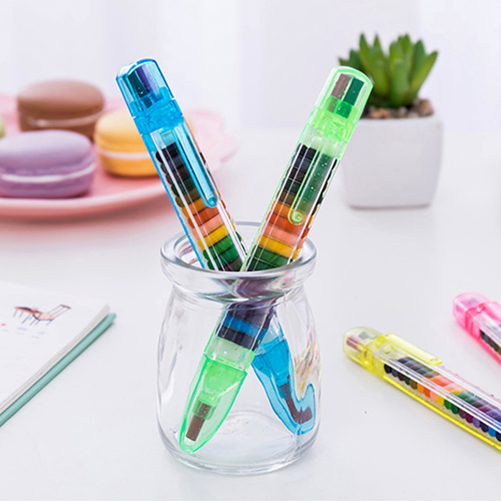 Baby Nontoxic Wax Crayons Pencil Educational Kids Pen Art Gifts Stationery Pen