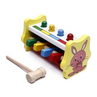 Đồ chơi đập chuột bằng gỗ an toàn cho bé