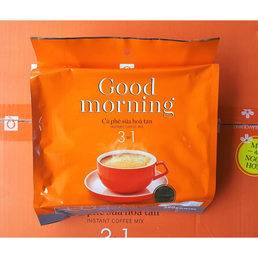 """Cafe Sữa Hòa Tan Trần Quang """"Good morning"""" 480gr (24 gói x 20gr)"""