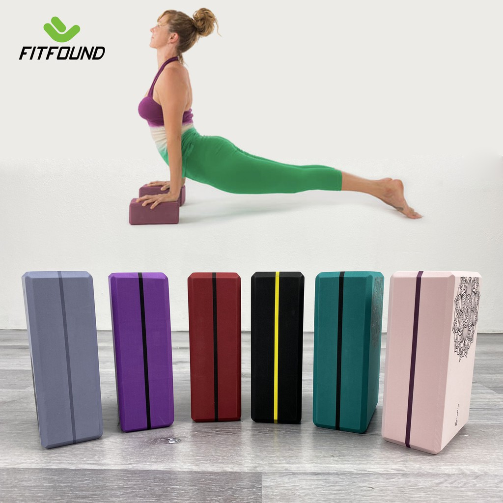 Gạch gối tập yoga EVA nặng 200g 300g độ cứng cao- Yoga Blocks Fitfound