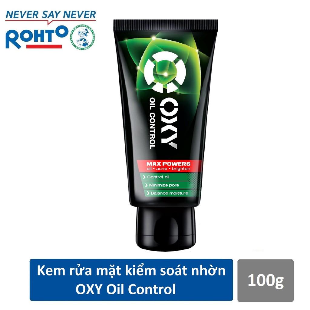 Kem rửa mặt kiểm soát nhờn và ngừa mụn cho nam Oxy Oil Control 100g
