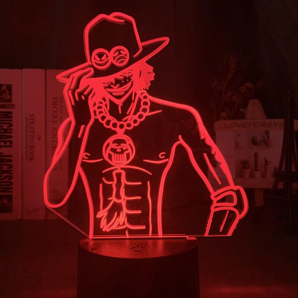 Đèn Ngủ Led Để Bàn Điều Khiển Từ Xa Hình Nhân Vật Luffy Zoro Trong Phim One Piece