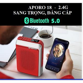 Máy trợ giảng Aporo T18 2.4G có bluetooth- HÀNG CHÍNH HÃNG- BH 12 THÁNG