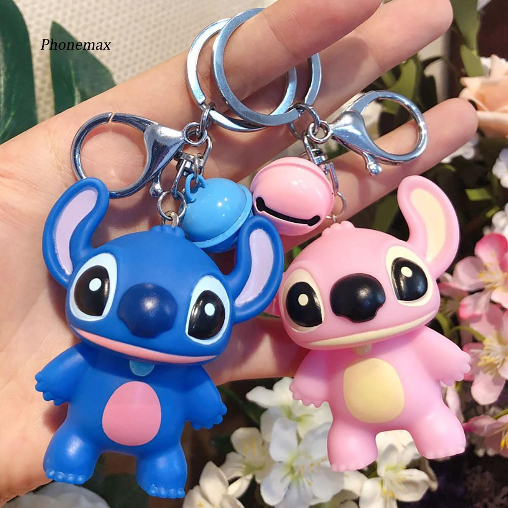 PNMX_Unisex Cute Cartoon Bells Doll Stitch Keyring Handbag Pendant Decor