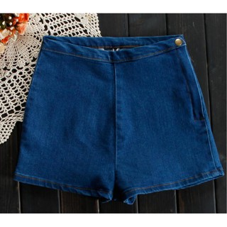 Quần short jeans nữ cạp cao nhập khẩu LA FASHION