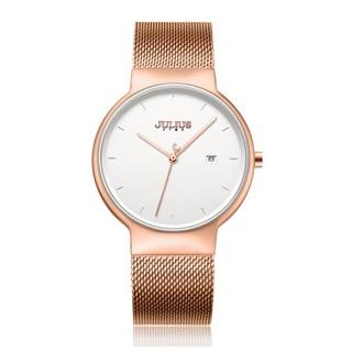 Đồng hồ nam Julius Star Hàn Quốc JS-009MB dây thép (Đồng)