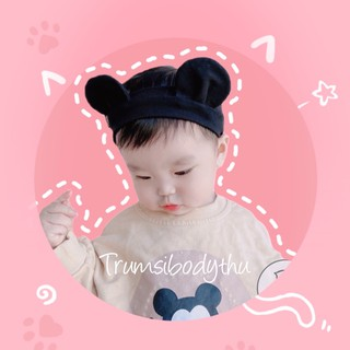 Băng đô tai gấu cho bé phong cách HQ – Turban tai gấu cho bé (bản to)