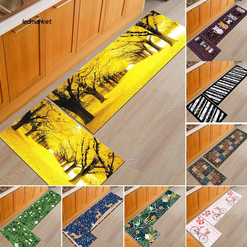 J_Cat Bicycle Printed Bathroom Anti-slip Doormat Floor Mat Rug Carpet Home