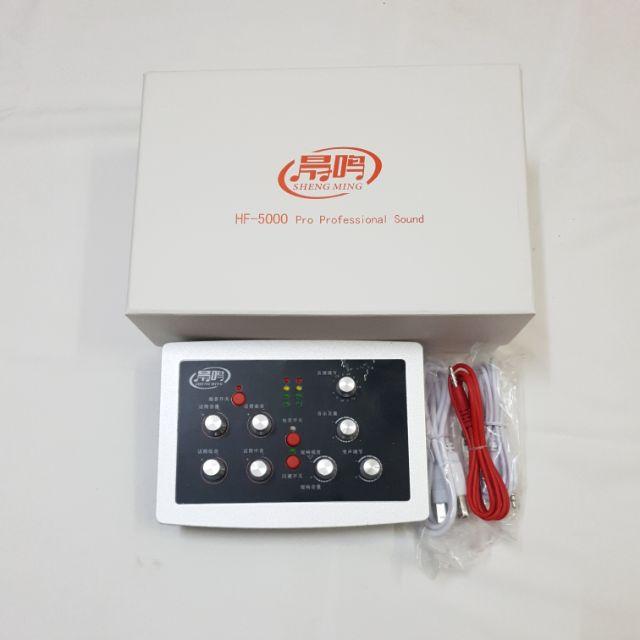 BỘ THU ÂM SOUND CARD HF-5000 PRO BẢO HÀNH 6 THÁNG