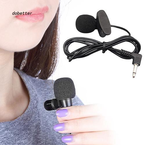 Microphone kẹp cổ áo đầu cắm 3.5mm dành cho máy Notebook laptop