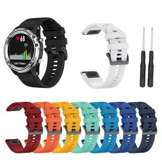 Dây đồng hồ tháo lắp nhanh 22mm bằng silicone cho Forerunner 935 Fenix 5 5X Plus Garmin