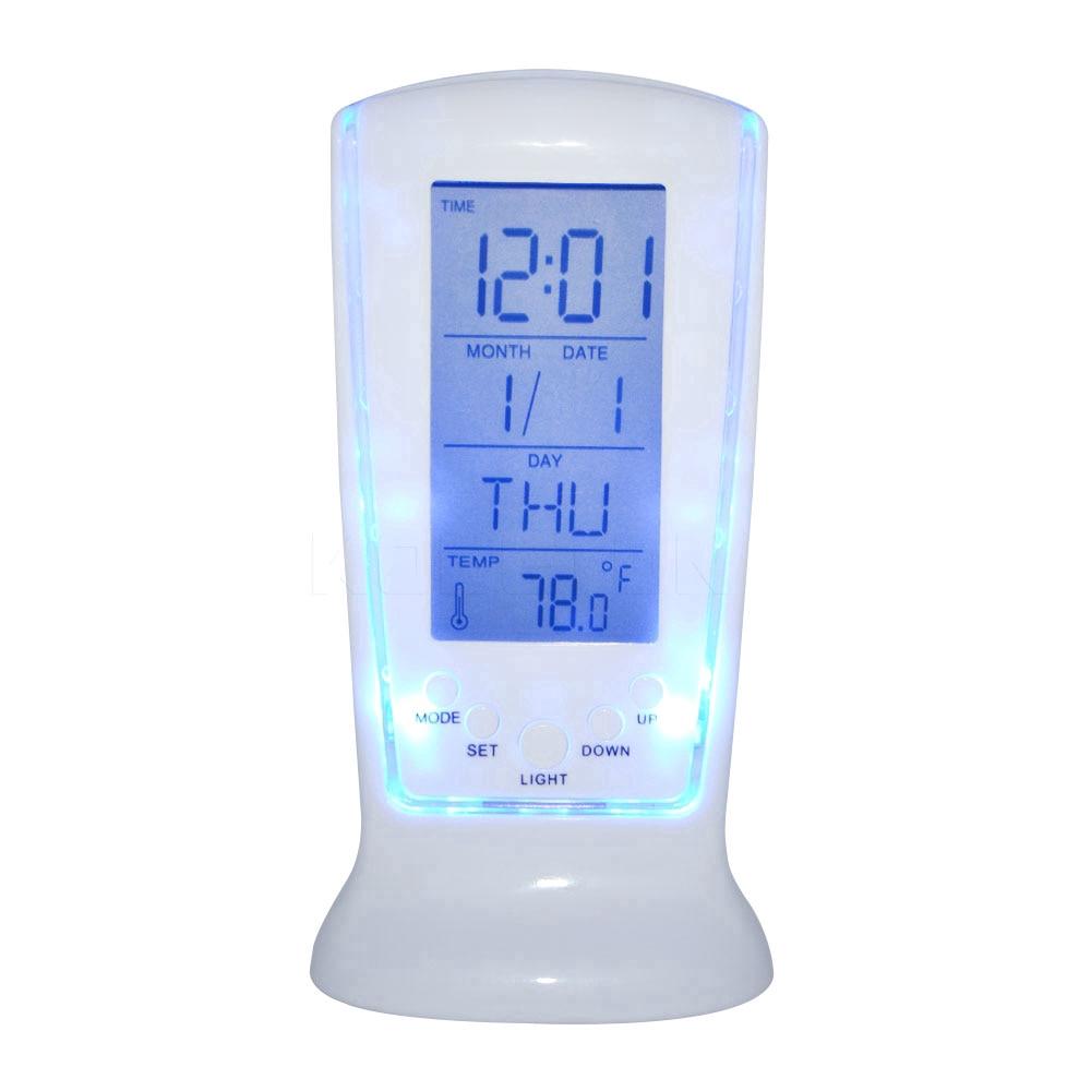 Nhiệt kế đồng hồ có đèn Led kỹ thuật số báo thức hiển thị lịch