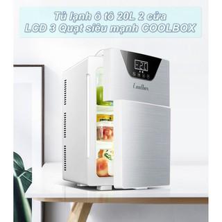 Tủ lạnh ô tô 20L 2 cửa LCD 3 Quạt siêu mạnh COOLBOX – Home and Garden