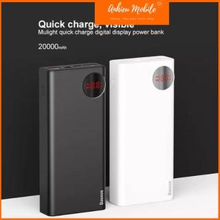 Pin Dự Phòng Sạc Nhanh Baseus Mulight PD/QC 3.0 Quick Charger 20,000mAh Cho Smartphone/Tablet/Macbook