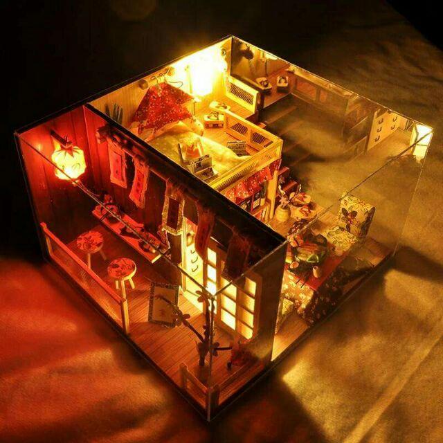 Mô hình nhà gỗ búp bê dollhouse DIY - TD12 Sakura Sushi