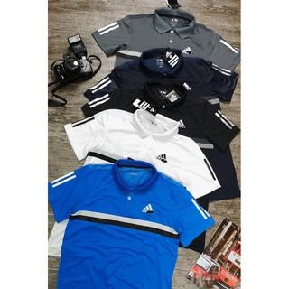 Polo Adidas dệt mặt sau