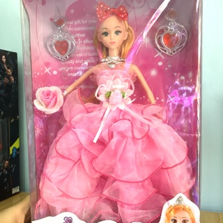 Búp bê váy công chúa voan nhiều tầng