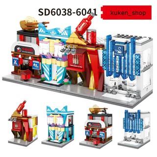 COMBO 4 Bộ Lắp Ráp Các Cửa Hàng Cửa Hiệu Nổi Tiếng Sembo SD6038 SD6039 SD6040 SD6041