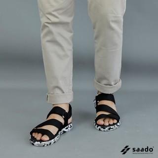 Giày sandal Saado đen đế lính nam nữ - saado CL01 Biệt đội bóng đêm