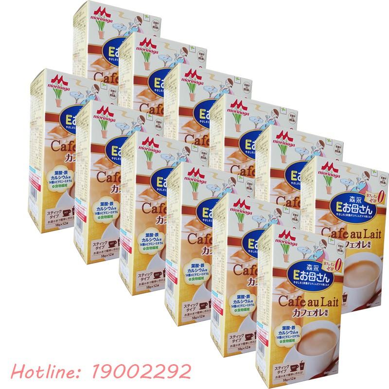 Combo 12 sữa bầu Morinaga 216g vị cafe