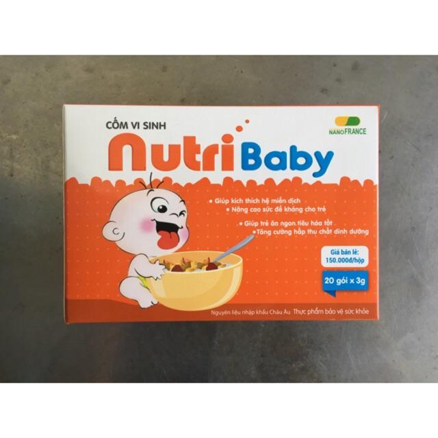 Cốm vi sinh Nutribaby Hộp 20 gói