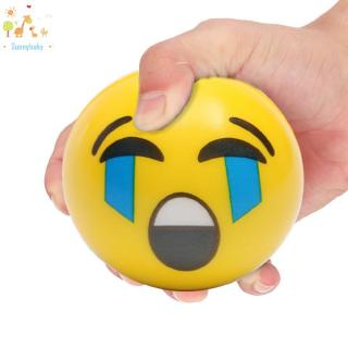 Sunny☀Kids Face Expression Squeeze Ball PU Hand Wrist Exercise Stress Relief Toys