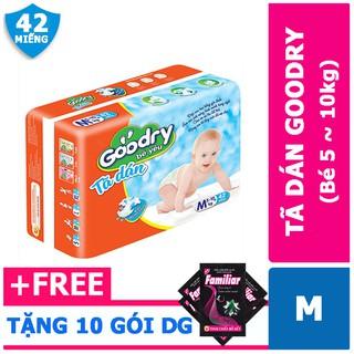 Tã/ Bỉm dán Goodry size M42 miếng – bé 5- 10kg