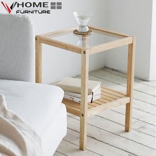 Yêu ThíchKệ Đầu Giường Gỗ Thông VHOME Furniture Mặt Kính Cường Lực 35cm x 35cm x 50cm Nội Thất Lắp Ráp