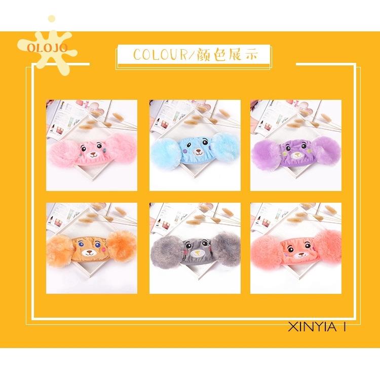 (Hàng Mới Về) Khẩu Trang Đeo Tai Giữ Ấm 2-10 Tuổi Hình Gấu Hoạt Hình 2 Trong 1 Cho Trẻ Em