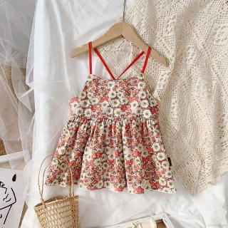 Áo Cotton Sát Nách In Hoa Thời Trang Cho Bé Gái