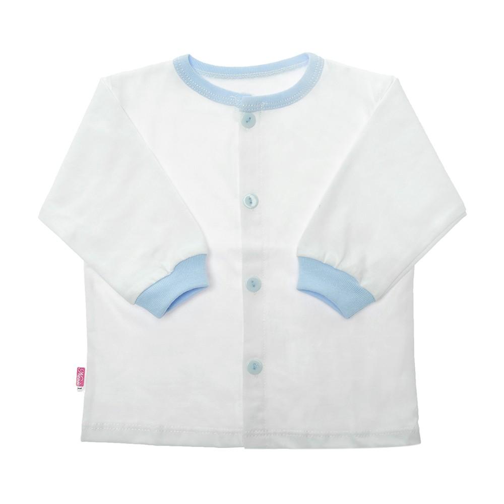 (3-13kg) Áo cài giữa tay dài trắng bo bé trai / bé gái Nanio (s1-5)