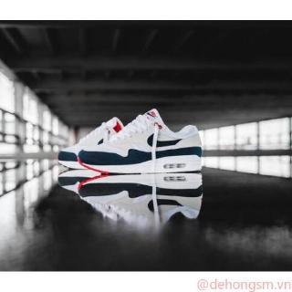 [Với hộp] Chính hãng Nike Air Max Anniversary OG 1 đen xám trắng đỏ EU36-46 Bắn thật