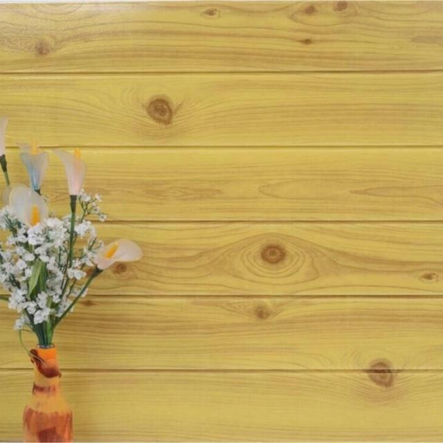 (Miền Nam) Xốp dán tường 3D vân gỗ 70x77cm