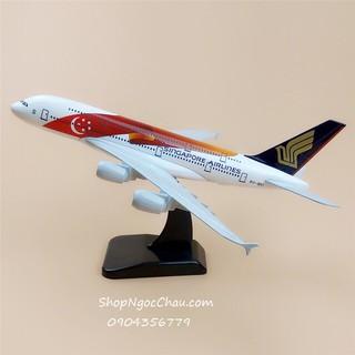 Máy bay mô hình Singapore Airlines_Airbus A380 (20cm)