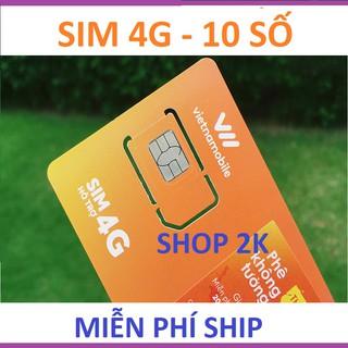 Thánh sim 4G Vietnamobile 10 số có sẵn 120GB /tháng