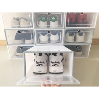 ( Giá sỉ size to giày nam) hộp đựng giày bằng nhựa cứng cáp size to