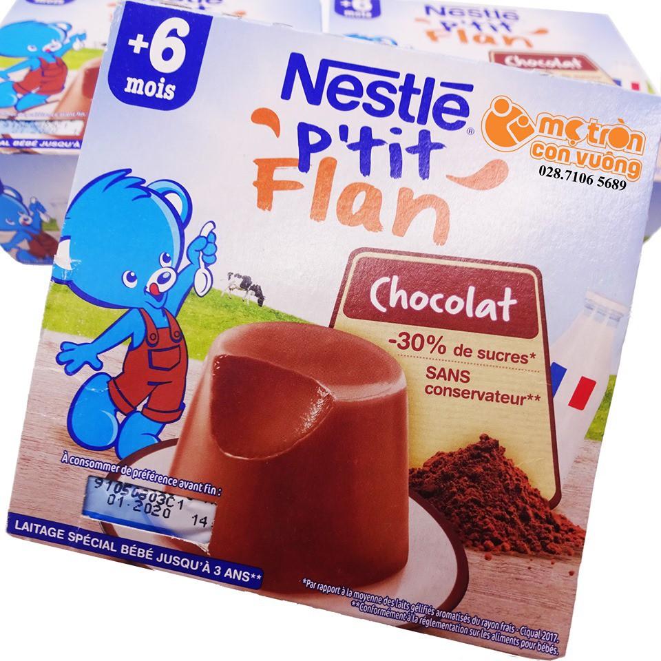 Bánh flan Nestle vị socola (100gx4)