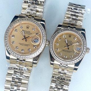 Đồng hồ đôi Nam+Nữ ROLEX kính sapphire chống nước thumbnail
